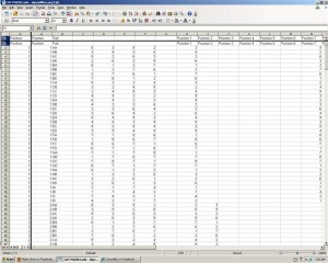 a spreadsheet for the puzzle - he says that it isn't pretty, but does the trick.