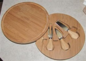 Bamboo Cutting Board with Tools