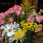 The best part of our long night. Flowers from Sandy of Billings Animal Rescue Kare. (Photo by Sheri Lee)