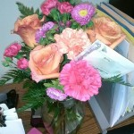 "My lovely flowers from my ""Coffee Girls"""
